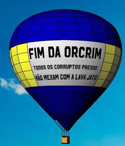 Manifestação de apoio à Lava Jato em Curitiba contará com ajuda de balão inflável