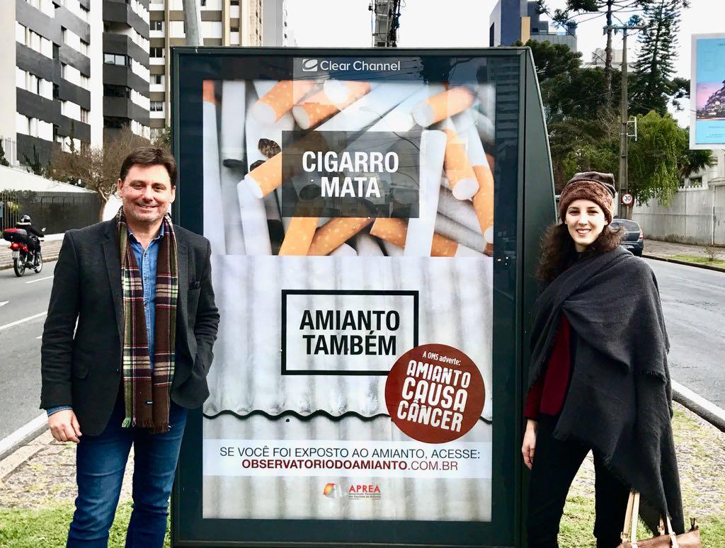 Agência curitibana lança campanha pelo banimento do amianto, mineral considerado cancerígeno