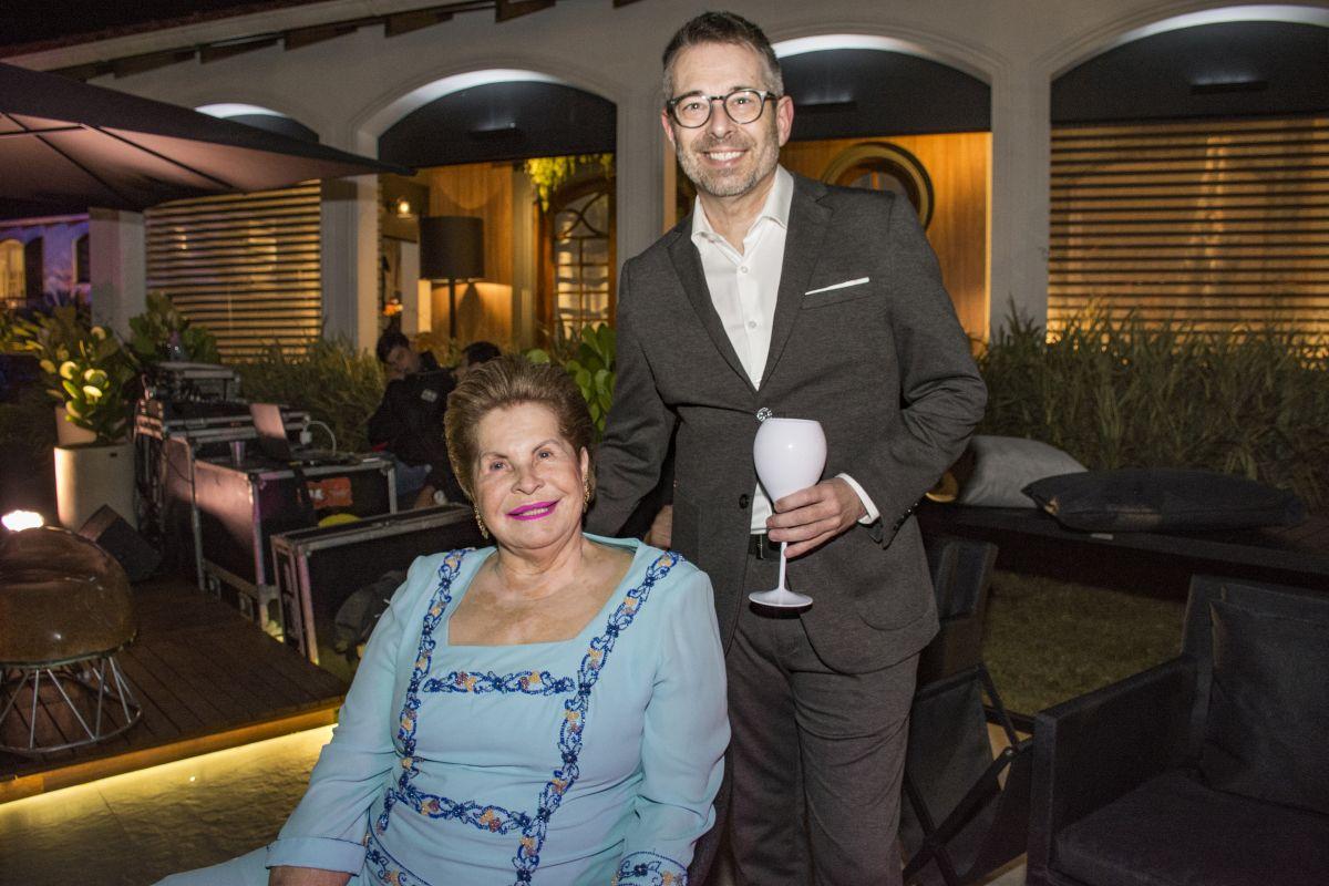 A empresária Florlinda Andraus e o ex-prefeito de Guarapuava Cesar Franco. Foto: Nay Klyn / Gazeta do Povo.