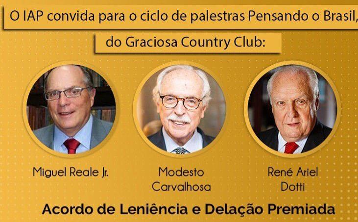 Acordo de Leniência e Delação Premiada é tema de palestras de juristas em Curitiba