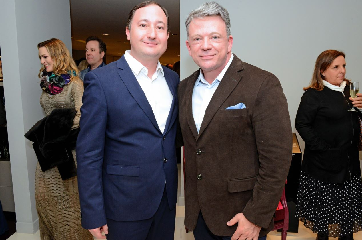 O empresário Marcio Bellesi, da Sierra Curitiba, com o médico Eliseu Portugal.