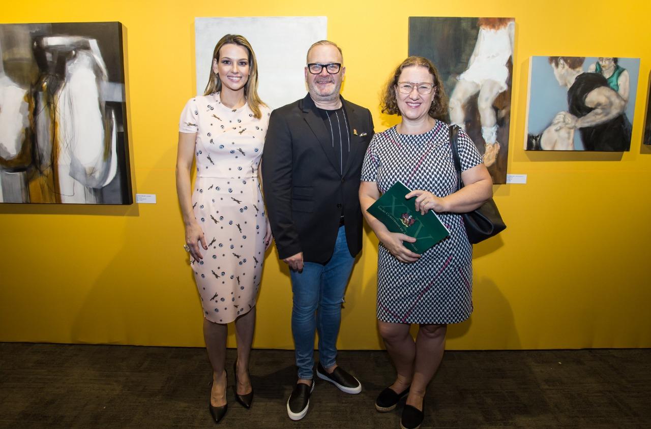 Laura Fagundes Ramalho, Roberto Amaral da Cunha e a presidente Museus Oscar Niemeyer, Ilana Lerner Hoffmann.
