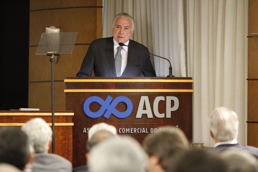 Presidente Michel Temer deu a palestra