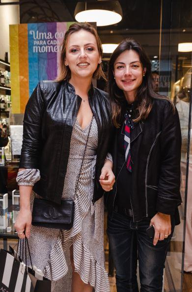 A blogueira Dani Machado (à esq.) e Danielle Zacharias Rorato.