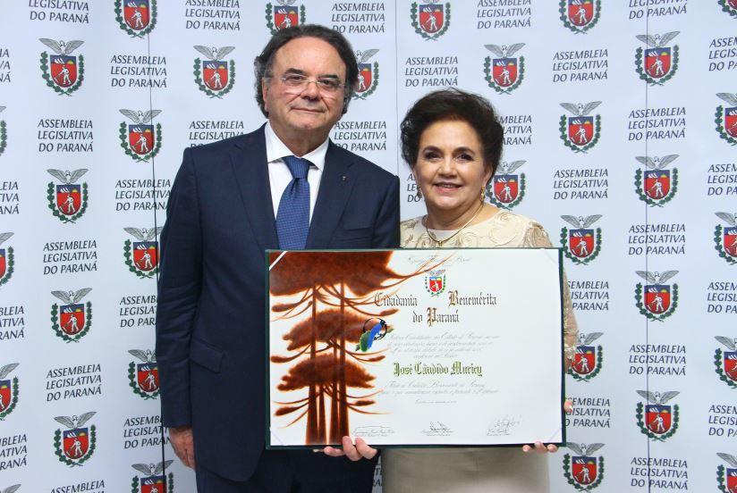 José Cândido Muricy e a mulher Vera Muricy.