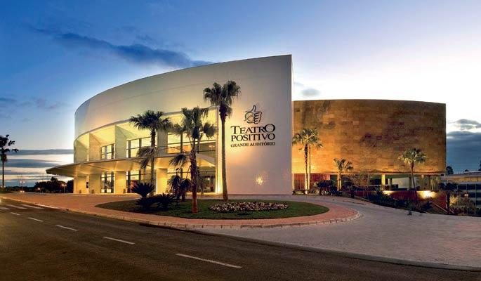 Teatro Positivo passa a oferecer reserva de vagas em seu estacionamento para dias de espetáculos ou eventos