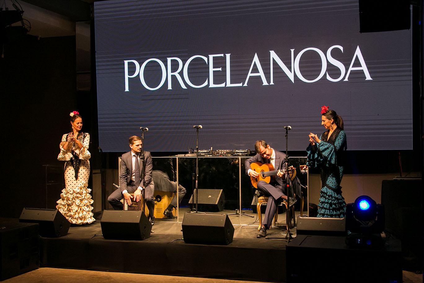 A festa ainda foi animada pela Banda Porvenir, embaixadora da Porcelanosa, que veio diretamente da Espanha para o evento.