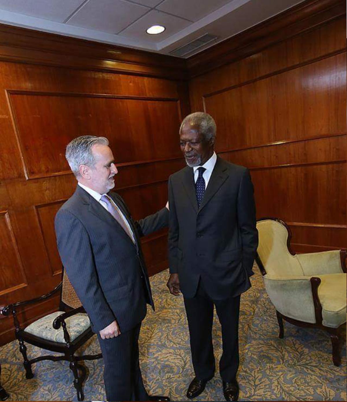 Com o ex-secretário-geral da ONU, Kofi Annan, no Rio de Janeiro, uma das muitas personalidades com quem estive nos últimos 18 anos.