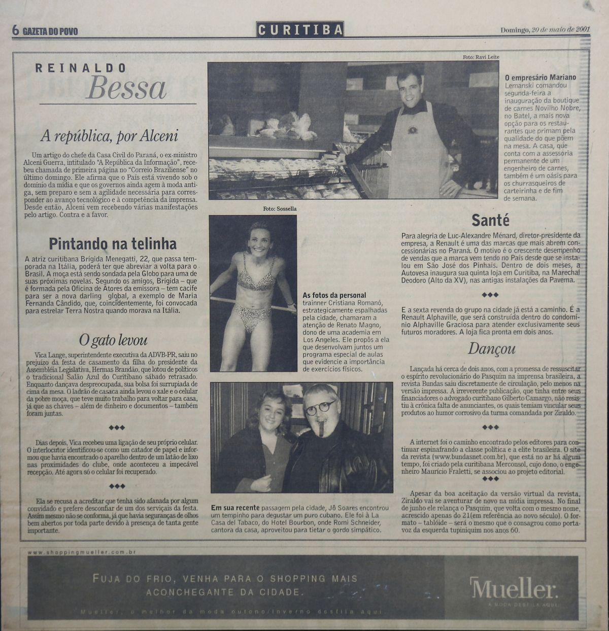 A primeira coluna trazia notícias do mundo social, político, artístico e econômico. (Fotos: Aniele Nascimento/Gazeta do Povo).