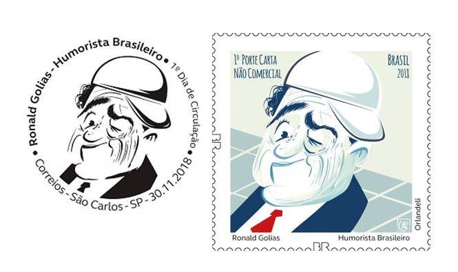 Novo selo dos Correios homenageia Ronald Golias, gênio do humor nacional